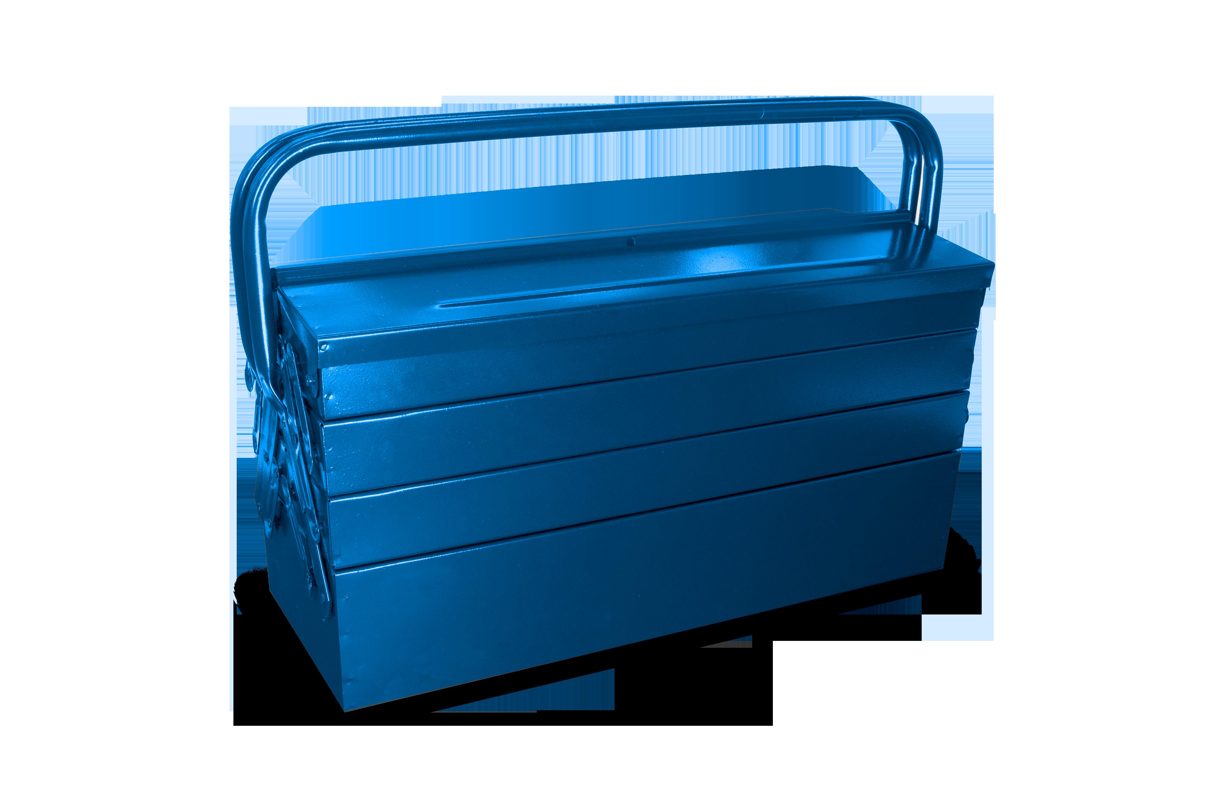 100BBAS – Caixa Para Ferramentas Basic Sanfonada, 500mm, com 5 Gavetas