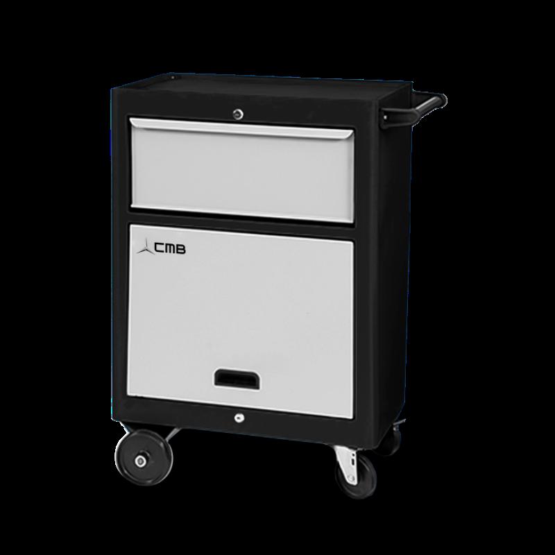 CMB659 – Carrinho para Ferramenta com 1 Bandeja, Porta Retrátil e 1 Gaveta