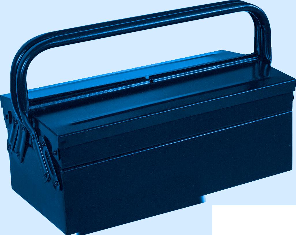 100CBAS – Caixa Para Ferramentas Basic Sanfonada, 400mm, com 3 Gavetas