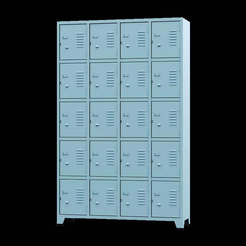 ROUP014 – Armário Roupeiro com 20 Portas Pequenas