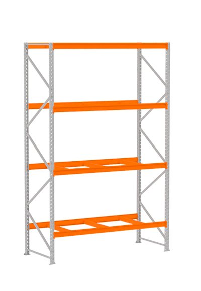 MPP013 – Mini Porta Pallet Inicial 600x1800x3000 C/4 Longarinas S/Bandeja