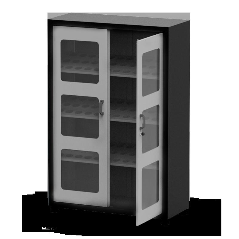 ARM051V – Armário Porta Cone ISO30 para 108 peças com 3 prateleiras e Visor de Vidro