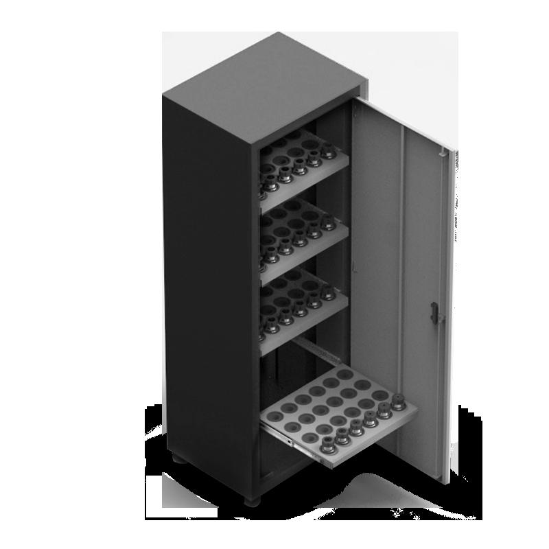 ARM060 – Armário Porta Cone ISO50 para 48 peças com 4 prateleiras